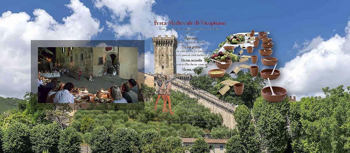 Пиза, Vicopisano: Средневековый праздник в Викопизано
